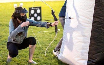 3 hodiny akční zábavy: paintball a archery game