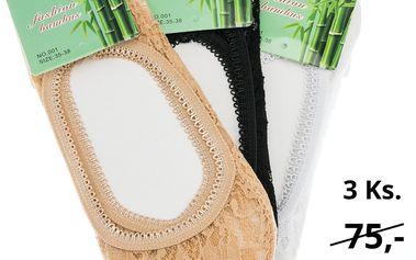 Dámské ponožky do balerín bambusové ťapky 3 ks PD0003-0232