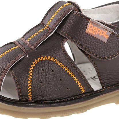 Beppi Chlapecké kožené sandály - hnědé, EUR 24