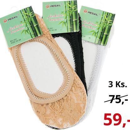 Dámské ponožky do balerín bambusové ťapky 3 ks PD0003-0332