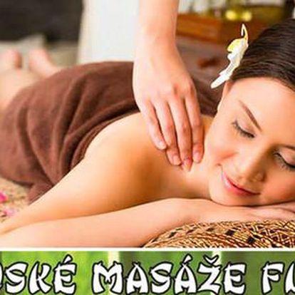 50% sleva na 60minutovou Thajskou olejovou masáž v Thajských masážích Flora