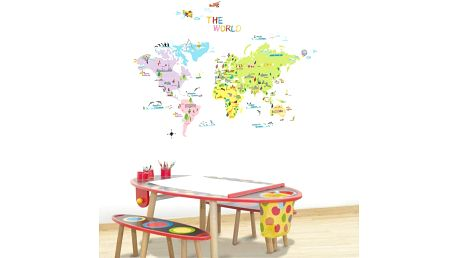 Samolepka Ambiance World map for children