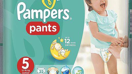 PAMPERS Pants 5, 22ks (12-18kg) CARRY Pack - kalhotkové plenky