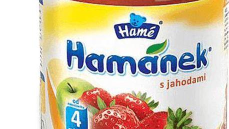 6x HAMÁNEK jahodami (190 g) - ovocný příkrm