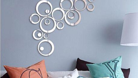 Kruhy - zrcadlová samolepka na zeď