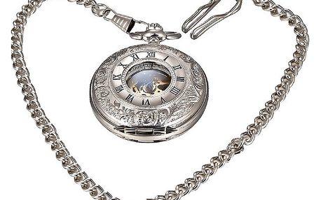 Mechnické kapesní hodinky se zdobeným krytem
