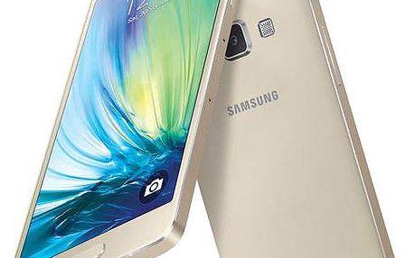 Samsung Galaxy A5 (SM-A500F) (SM-A500FZDUETL) zlatý + dárek Voucher na skin Skinzone pro Mobil CZ + Doprava zdarma