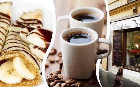 2x domácí palačinka s čokoládou a banánem a 2x lahodná brazilská káva.To je sladké menu pro 2 osoby, které na Vás čeká v pražském FreshBaru To Chce Klid.Čeká na Vás stylové posezení, kde si můžete vychutnat společné chvíle s rodinou, přáteli anebo si je