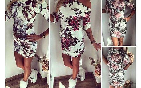 Dámské šaty s potiskem květin Callie - VÝPRODEJ