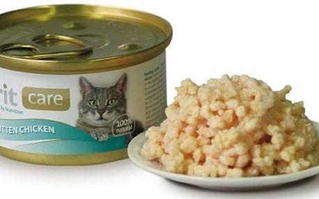 Brit Care Cat konzerva Kitten Chicken 80 g
