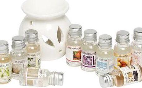 Aromalampa s 12 vonnými oleji