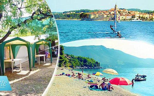 Týdenní dovolená pro 1 osobu a až 2 děti do 12 let v kempu Orebič - Pelješac, Chorvatsko