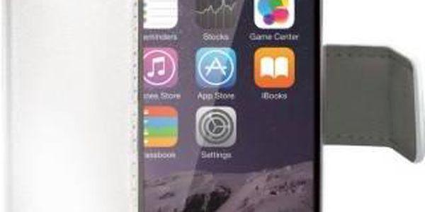 Pouzdro na mobil flipové Celly WALLY pro iPhone 6 PLUS (WALLY601W) bílé