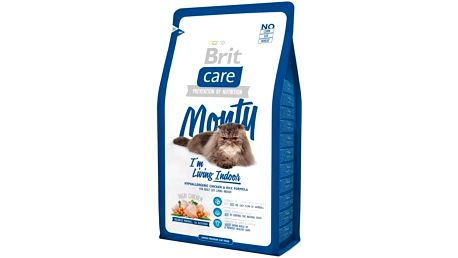 Brit Care Cat Monty I´m Living Indoor 2 kg + dárek Dóza Brit Care Cat - assort