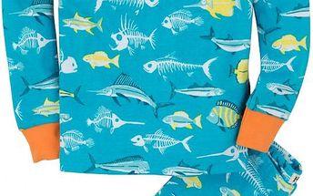 Hatley Chlapecké pyžamo s rybičkami - modré, 6 let