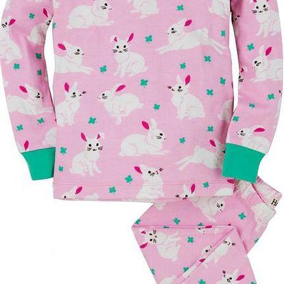 Hatley Dívčí pyžamo s králíčky - růžové, 6 let