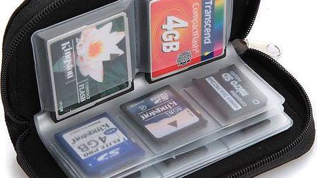 Pouzdro na 22 paměťových karet SD / MMC / XD