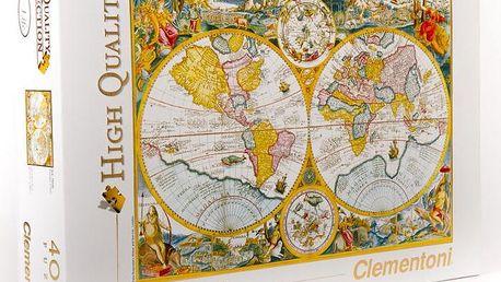 Clementoni Puzzle mapa Antická, 4000dílků