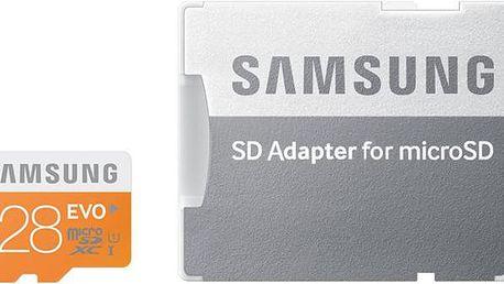 Samsung Micro SDXC EVO 128GB Class 10 + adaptér - MB-MP128DA/EU