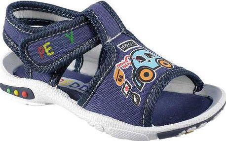 Peddy Chlapecké sandály s autíčkem - modré, EUR 20