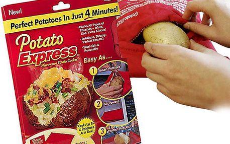 Potato Express - Uvařené brambory za pouhé 4 minuty, v mikrovlnné troubě.