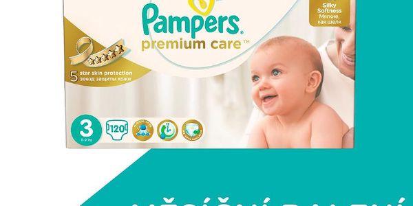 Měsíční zásoba plenek Pampers Premium Care 3 Midi 120ks. POSLEDNÍ KUSY!
