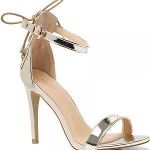 Dámské zlaté sandály Hailey 1005