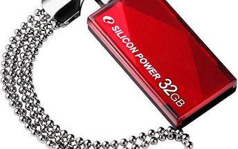 Silicon Power Touch 810 32GB, Červený - SP032GBUF2810V1R
