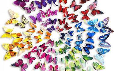 Velká sada 3D motýlků - 72 kusů