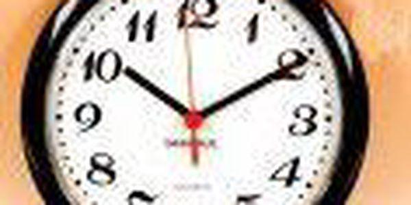 Nástěnné hodiny ROMANCE 20 cm - ČERNÉ