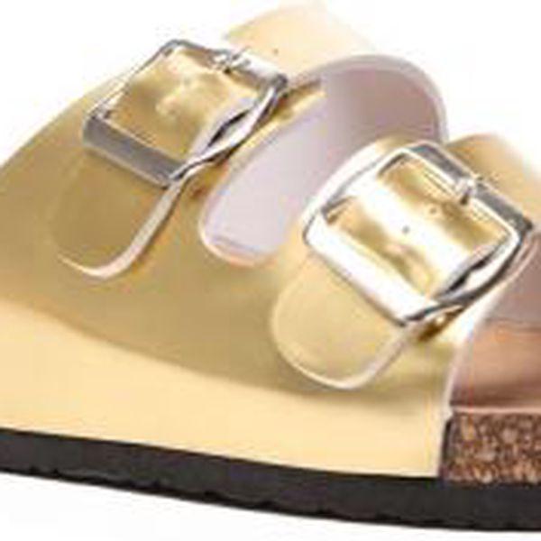 Dámské zlaté pantofle Wendy 666