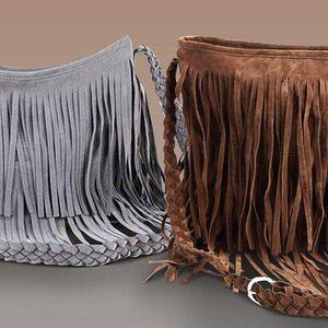 Semišová kabelka s třásněmi – na výběr 4 barvy