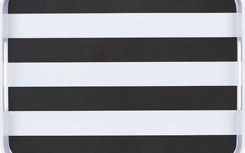 BLACK & WHITE Podnos pruhy