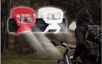 Přední a zadní, červené a bílé LED světlo pro lepší viditelnost cyklistů! Tři režimy svícení, jednoduché připevnění, dlouhá životnost.