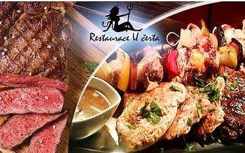 Obří 2300g Mix Grill pro 4-6 osob: 5x polévka, 20 steaků z různých mas, cibule, lusky, kuřecí špalíčky a chléb!