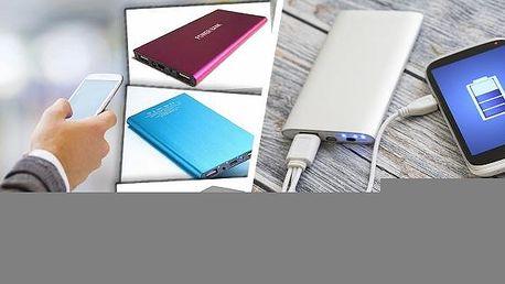 Power banka 20 000 mAh slim - elegantní doplněk pro všechny elektronické přístroje. Je vybaven dvěma porty, takže můžete nabíjet tablet a smartphone současně. Indikátor navíc přehledně zobrazuje zbývající energii.