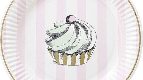 Sada papírových talířů Mini Cupcake, 8 ks
