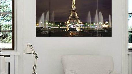 3D samolepka na zeď - Rozsvícená Eiffelova věž - skladovka - poštovné zdarma