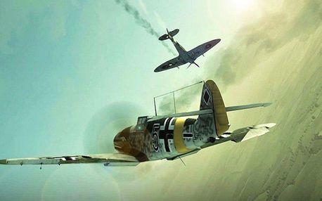 Let na 3D simulátoru bojového Messerschmittu