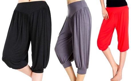 Krátké turecké kalhoty pro maximální pohodlí v několika různých barvách
