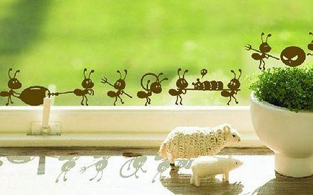 Samolepka na okno či zeď - mravenci - dodání do 2 dnů
