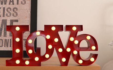 Dekorativní světlo Carnival Love, červené - doprava zdarma!