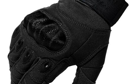 Motorkářské rukavice ve třech velikostech - černá