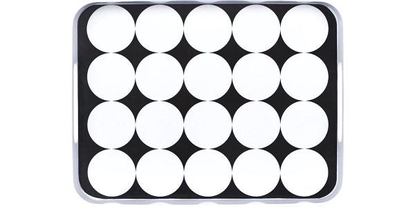 BLACK & WHITE Podnos kruhy