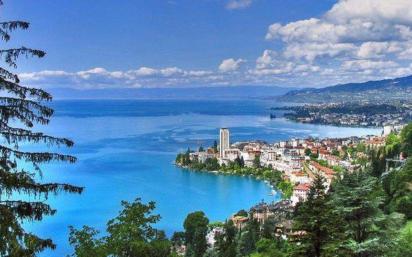 Švýcarsko, Ženeva a Savojské Alpy s Mont Blancem