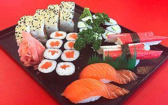 Rozmanité sushi sety v Anawa Running Sushi