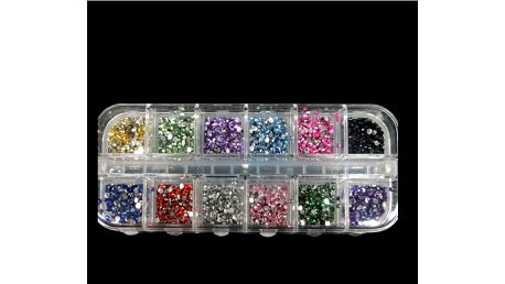 Sada ozdobných kamínků - 12 barev - dodání do 2 dnů