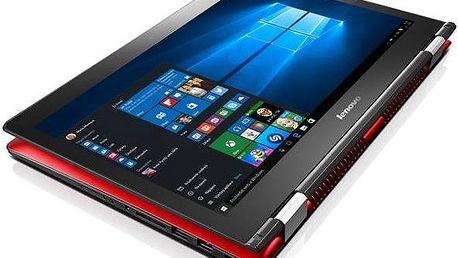 Notebook Lenovo IdeaPad Yoga 80R50042CK, červený + 200 Kč za registraci