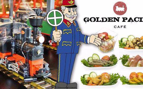 Neomezená konzumace pokrmů v mašinkové kavárně