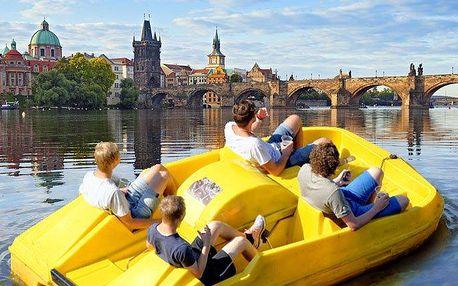 Pronájem šlapadel u Klubu Lávka v Praze až pro 4 osoby na 1 hodinu